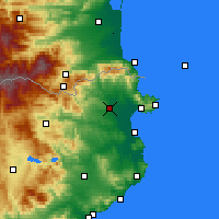 Nearby Forecast Locations - Figueras - Mapa