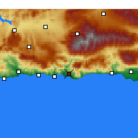 Nearby Forecast Locations - Motril - Mapa
