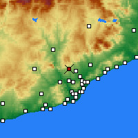 Nearby Forecast Locations - Tarrasa - Mapa