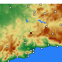 Nearby Forecast Locations - Antequera - Mapa