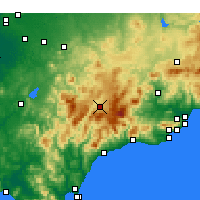 Nearby Forecast Locations - Ronda - Mapa