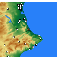 Nearby Forecast Locations - Gandía - Mapa