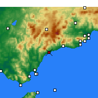 Nearby Forecast Locations - Estepona - Mapa