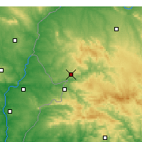 Nearby Forecast Locations - Oliva de la Frontera - Mapa