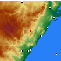 Nearby Forecast Locations - Albocácer - Mapa
