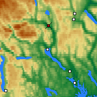 Nearby Forecast Locations - Notodden - Mapa