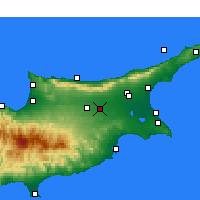 Nearby Forecast Locations - Ercan aeropuerto - Mapa