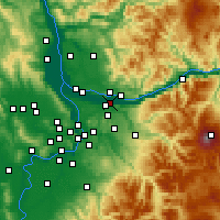 Nearby Forecast Locations - Troutdale - Mapa