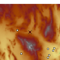 Nearby Forecast Locations - Indian Springs - Mapa
