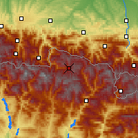 Nearby Forecast Locations - Baqueira Beret - Mapa