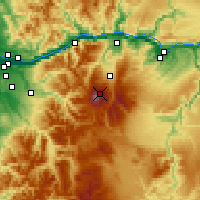 Nearby Forecast Locations - Monte Hood - Mapa