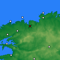 Nearby Forecast Locations - Morlaix - Mapa