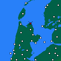 Nearby Forecast Locations - Den Oever - Mapa
