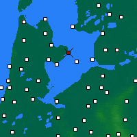 Nearby Forecast Locations - Enkhuizen - Mapa