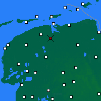 Nearby Forecast Locations - Kollumerland en Nieuwkruisland - Mapa