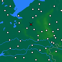 Nearby Forecast Locations - Nijkerk - Mapa