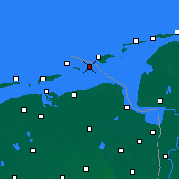 Nearby Forecast Locations - Rottumeroog - Mapa