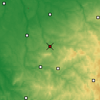 Nearby Forecast Locations - Bellac - Mapa