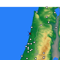 Nearby Forecast Locations - Netanya - Mapa