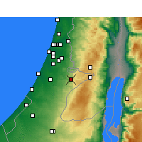 Nearby Forecast Locations - Beit Shemesh - Mapa