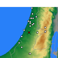 Nearby Forecast Locations - Kfar HaRif - Mapa