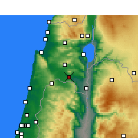Nearby Forecast Locations - Kfar Yehezkel - Mapa