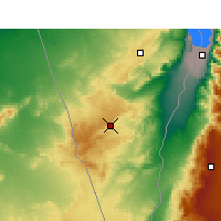 Nearby Forecast Locations - Mitzpe Ramon - Mapa