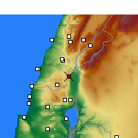 Nearby Forecast Locations - Kiryat Shemona - Mapa