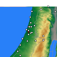 Nearby Forecast Locations - Rishon LeZion - Mapa