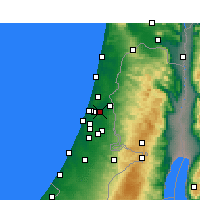 Nearby Forecast Locations - Petaj Tikva - Mapa