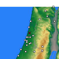 Nearby Forecast Locations - Ra'anana - Mapa