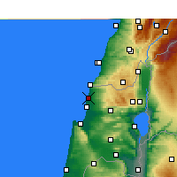 Nearby Forecast Locations - Nahariya - Mapa