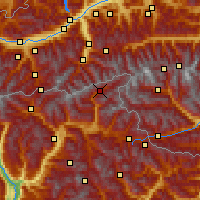 Nearby Forecast Locations - Valle Aurina - Mapa