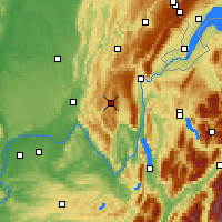 Nearby Forecast Locations - Hauteville-Lompnes - Mapa