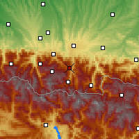 Nearby Forecast Locations - Aspin-Aure - Mapa