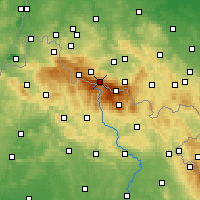 Nearby Forecast Locations - Špindlerův Mlýn - Mapa