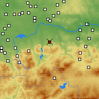 Nearby Forecast Locations - Andrychów - Mapa