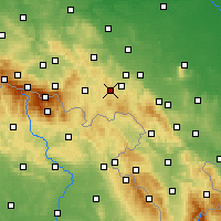 Nearby Forecast Locations - Boguszów-Gorce - Mapa