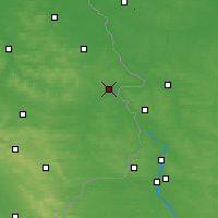 Nearby Forecast Locations - Hrubieszów - Mapa