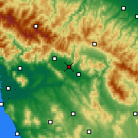 Nearby Forecast Locations - Prato - Mapa