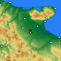 Nearby Forecast Locations - Foggia - Mapa