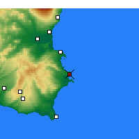 Nearby Forecast Locations - Siracusa - Mapa