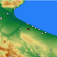 Nearby Forecast Locations - Andría - Mapa