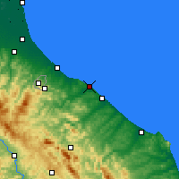 Nearby Forecast Locations - Pésaro - Mapa