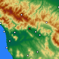 Nearby Forecast Locations - Pistoya - Mapa