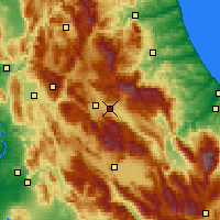 Nearby Forecast Locations - L'Aquila - Mapa