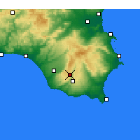 Nearby Forecast Locations - Ragusa - Mapa