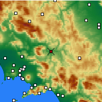 Nearby Forecast Locations - Benevento - Mapa