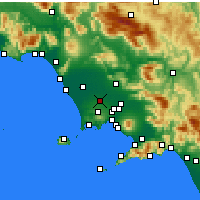 Nearby Forecast Locations - Aversa - Mapa