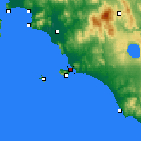 Nearby Forecast Locations - Orbetello - Mapa